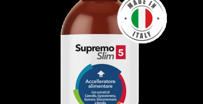 Supremo Slim 5, Drena i Liquidi e Riduce i Lipidi Assimilati in Modo Naturale